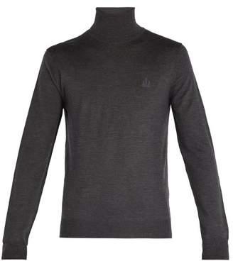 Dolce & Gabbana Roll Neck Wool Sweater - Mens - Dark Grey