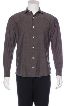 Eleventy Woven Button-Up Shirt