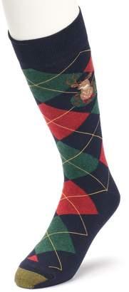 Gold Toe Goldtoe Men's GOLDTOE Deer Argyle Novelty Socks