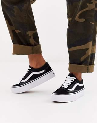 Vans Old Skool black platform sneakers
