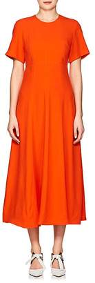 Proenza Schouler Women's Satin-Back Crepe Midi-Dress