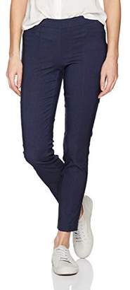My Michelle Leighton By Junior's Slim Mid-Rise Pull On Career Pant