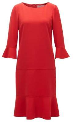 BOSS Hugo Flounce Dress Henryke 6 Red
