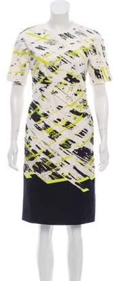 J. Mendel Knee-Length Printed Dress