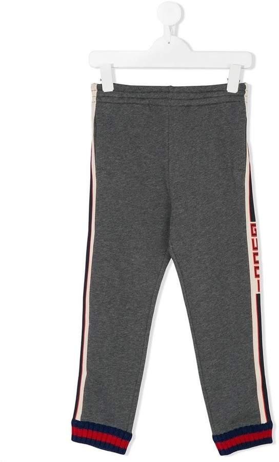 Gucci Kids logo stripe joggers