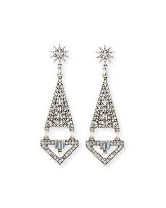Lulu Frost Electra Crystal Statement Earrings $295 thestylecure.com