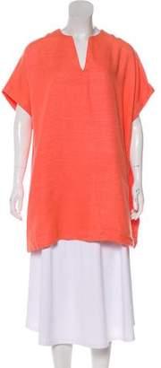 Diane von Furstenberg Squaretan Oversize Silk Mini Dress