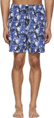 Versace Underwear Blue Medusa Swim Shorts $375 thestylecure.com
