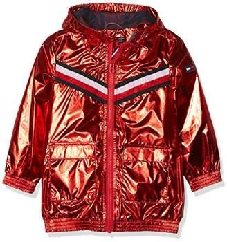 Tommy Hilfiger Girl's S Metallic Hooded Jacket Coat,164 (Size: 14)