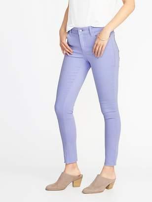 Old Navy Mid-Rise Pop-Color Rockstar Raw-Edge Super Skinny Ankle Jeans for Women