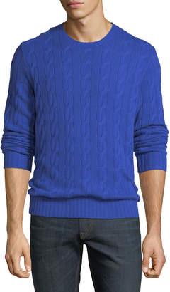 Ralph Lauren Men's Provence Cable-Knit Cashmere Sweater