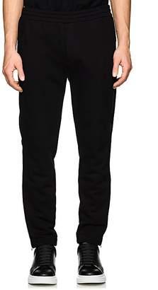 Alexander McQueen Men's Side-Zip Cotton Fleece Sweatpants