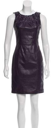 Versace Studded Leather Dress w/ Tags