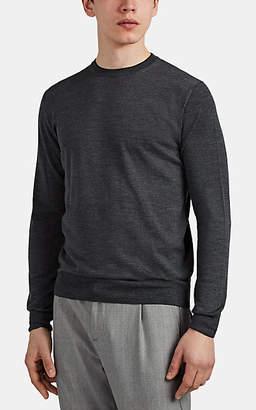 d604fa06c Eleventy Men's Mélange Wool-Silk Long-Sleeve Top - Charcoal
