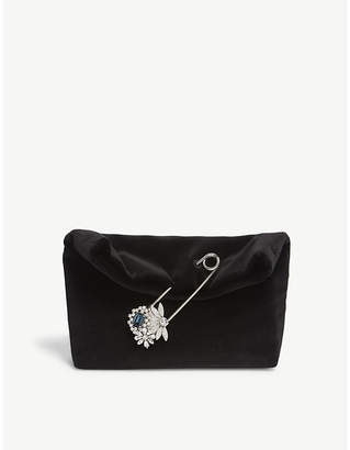 Burberry Small pin velvet clutch bag