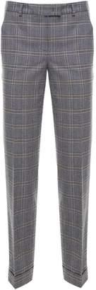 Alberto Biani Check-print Wool-jersey Trousers