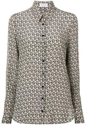 Salvatore Ferragamo spotted blouse