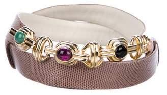 Judith Leiber Leather Waist Belt