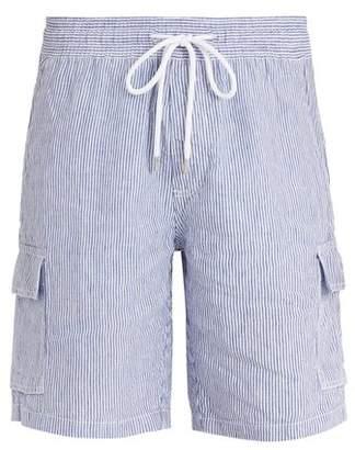 Vilebrequin Berrix Striped Linen Shorts - Mens - Blue Stripe