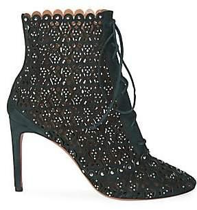 Alaia Women's Lace Cutout Stiletto Booties
