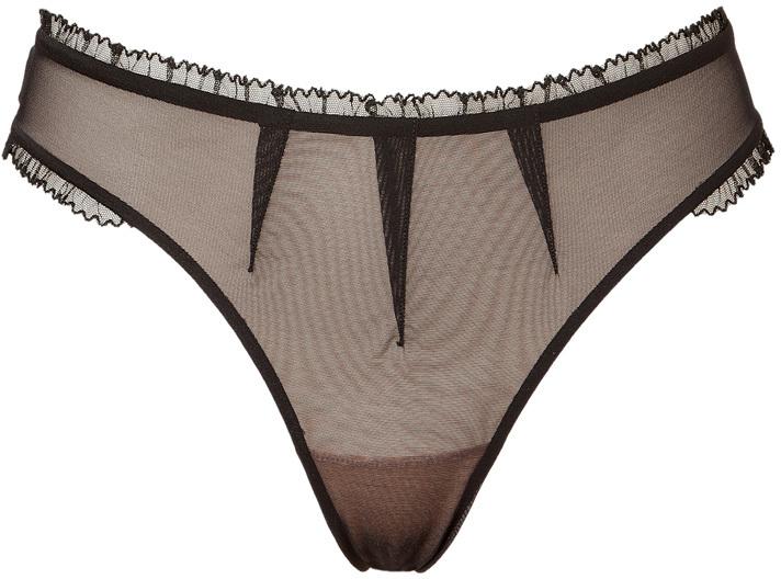 Chantal Thomass Black Arlequine Thong