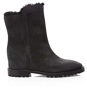Aquatalia Women's Cate Faux Shearling-Lined Suede Boots