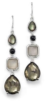 Ippolita Sterling Silver Rock Candy® 4 Stone Linear Earrings in Black Tie