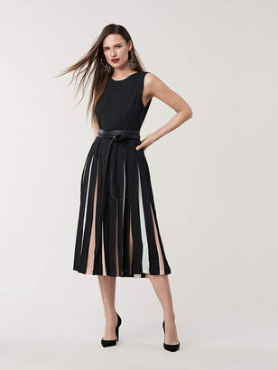 Diane von Furstenberg Talita Silk Crepe Midi Dress