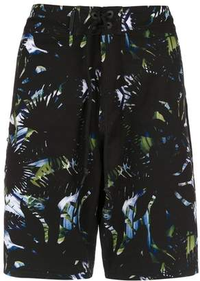 Track & Field printed swim shorts