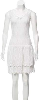 Oscar de la Renta Tiered Crochet Dress