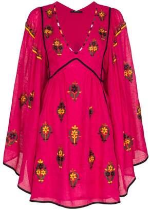 Vita Kin Jasmine V-neck floral embroidered linen dress