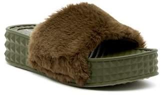 Chinese Laundry Sonny Faux Fur Slide Sandal