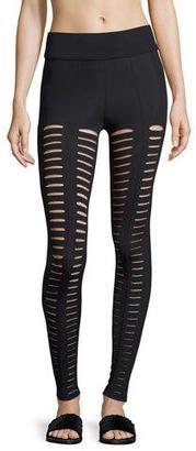 Cushnie Et Ochs Artemis Lattice Leggings, Black $215 thestylecure.com