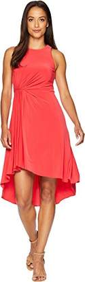 Adrianna Papell Women's Petite Matte Jersey FIT and Flare Dress