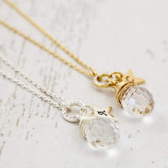 J&S Jewellery Crystal Wrapped Pendant