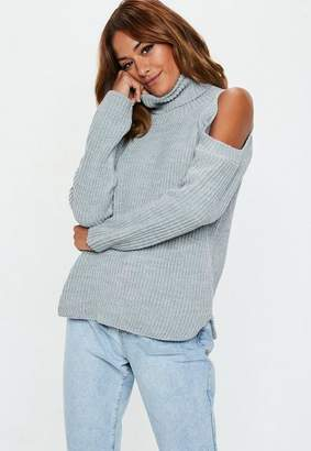 Missguided Cold Shoulder Knitted Jumper