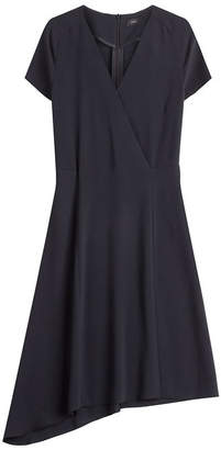 Joseph Draped Hem Crepe Dress