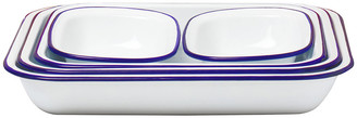 Falcon Bake Set - White with Blue Rim