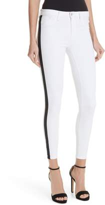 L'Agence Margot Side Stripe Crop Skinny Jeans