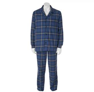 Croft & Barrow Big & Tall 2-pc. Plaid Flannel Pajama Set