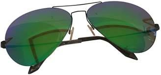 Victoria Beckham Green Metal Sunglasses