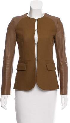 Neil Barrett Leather-Accented Wool Jacket