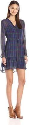 Jack Women's Roman Heritage Plaid Printed Chiffon Dress