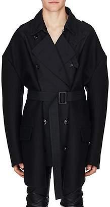 Maison Margiela Men's Gabardine & Wool Melton Oversized Trench Coat