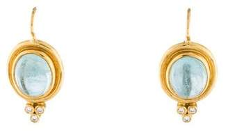 Temple St. Clair 18K Aquamarine & Diamond Classic Drop Earrings