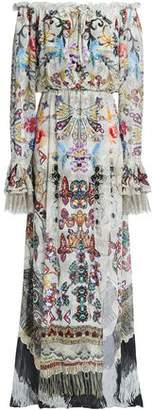 Camilla Raise Your Glass Wrap-Effect Printed Silk-Chiffon Maxi Dress