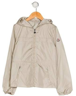 Moncler Girls' Hooded Zip-Up Jacket