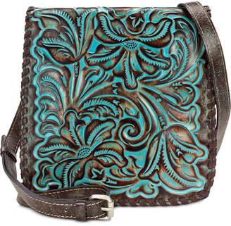 Patricia Nash Granada Turquoise Tooled Leather Crossbody