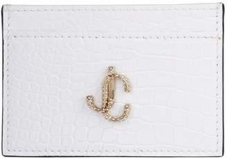 Jimmy Choo Croc-Embossed Leather Umika Card Holder