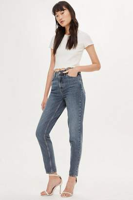 Topshop Grey Cast Mom Jeans